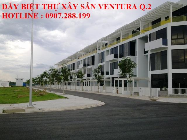 cụm Biệt Thự xây sẵn Ventura nằm trong khu quy hoạch 154 HA của khu đô thị Cát Lái quận 2