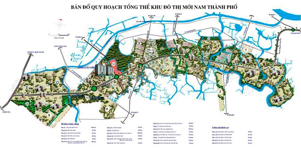 bản đồ quy hoạch khu Nam Sài Gòn