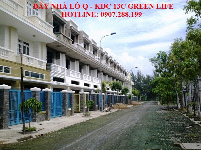 nhà xây sẵn , khu dân cư green life có đầy đủ tiện ích