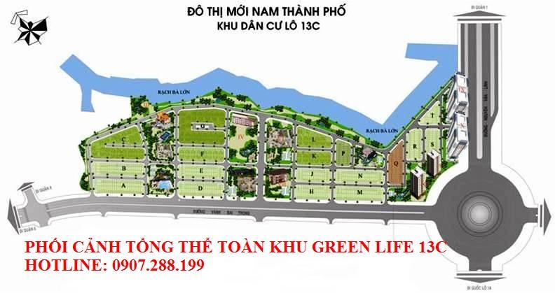 mặt bằng tổng thể khu dân cư GREEN LIFE
