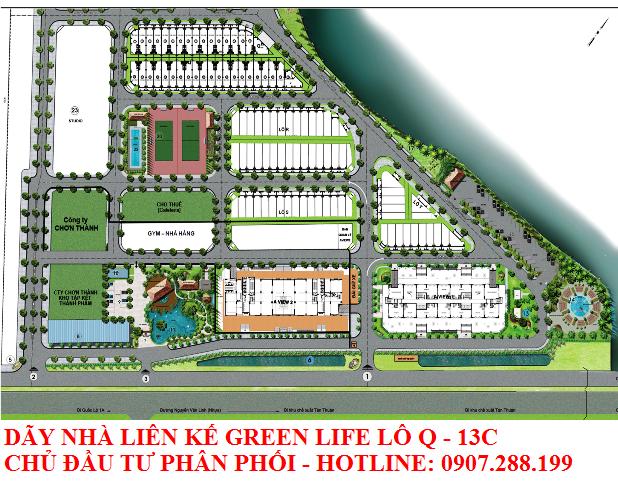 khu dân cư green life 13c được xây dựng, phân phối do công ty Tân Bình