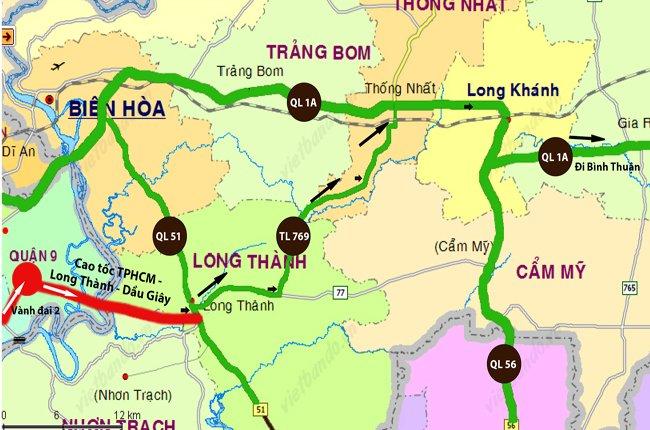 Đường Cao Tốc Tp. Hồ Chí Minh - Long Thành - Dầu Giây