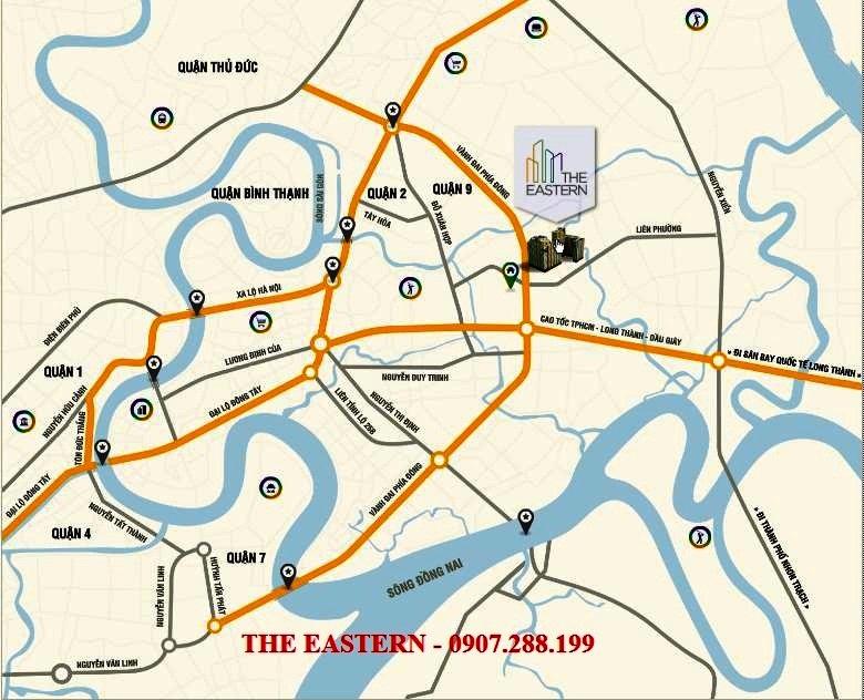 sơ đồ liên kết vùng của The Eastern quận 9