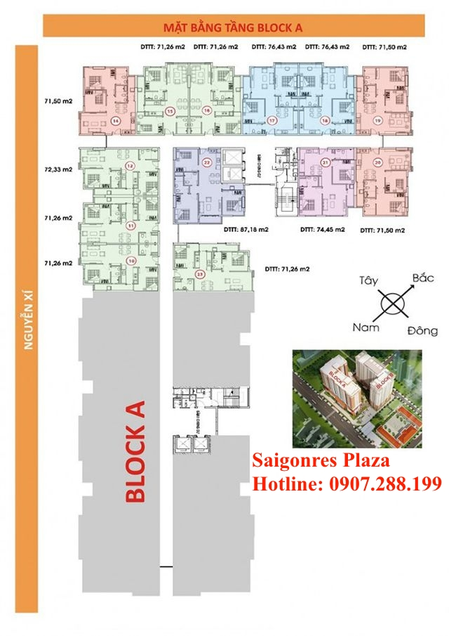 Block A - Khu căn hộ Saigonres Plaza