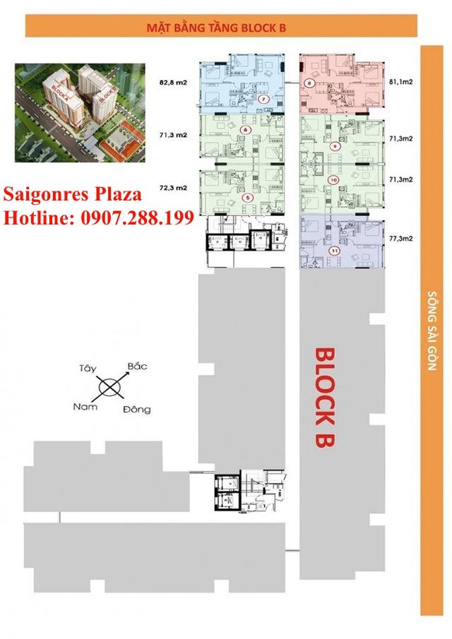 Block B -Khu căn hộ Saigonres Plaza