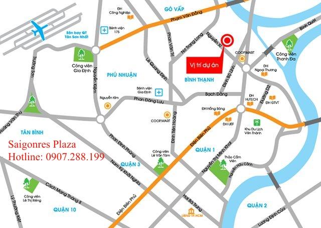 Vị Trí giao thông cực kỳ thuận tiện của Saigonres Plaza