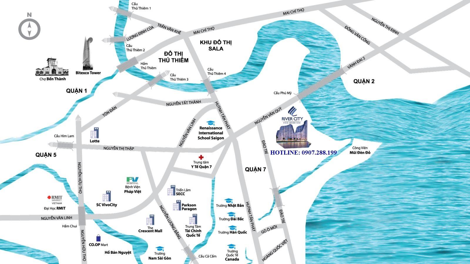 VỊ TRÍ CĂN RIVER CITY QUẬN 7